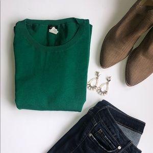 J. Crew emerald green sweater